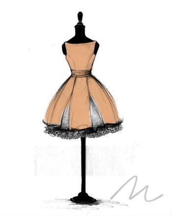 a sketch of a dress